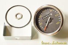 VESPA Tacho mit Chrom-Ring - Ø 85mm / 120 km/h - PX / Lusso - Tachometer Halter