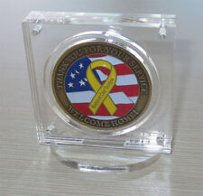 "1.75"" Challenge Coin Display Holder Case with Stand, w/ Magnetic Fastener"