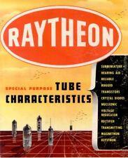 Raytheon Special Purpose Tube Characteristics * CDROM * PDF