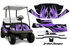 Club Car Precedent Golf Cart Graphic Kit Wrap Parts AMR Racing Decals PURPLE FLM