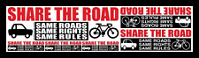 """2  ProBicycle """"Share The Road""""  Bicycle Advocacy 6-in-1 MEGA Stickers"""