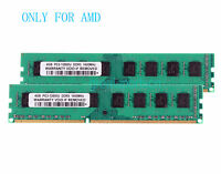 2X 4GB 8GB PC3-12800 DDR3 1600MHz DIMM Desktop Only AMD Motherboard Memory RAM