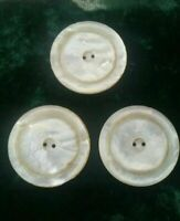 45605 3 Vintage Mother of Pearl Buttons