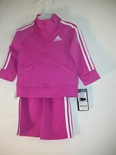 Adidas Pink & White Infant Girls 2 Piece Track Suit 12M NWT - $42