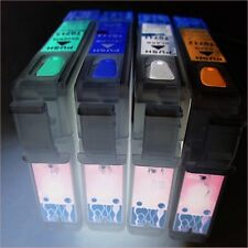 SET REFILLABLE EMPTY PRINTER CARTRIDGES EPSON STYLUS DX 4450 5050 6000 NON OEM