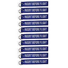 10 Pack Insert Before Flight Key Chain Blue & White aviation motorcycle pilot