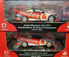 1:43 2011 Lowndes/ Whincup season cars Holden VE Commodore Vodafone matching COA