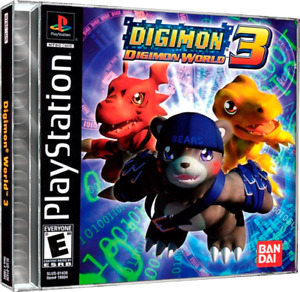 Digimon World 3 PS1 Custom Replacement Case NO DISC - FAST SHIPPING!!