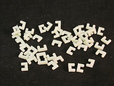 AURORA MODEL MOTORING ROADWAY LOCKS ~ WHITE PLASTIC ~ 50 PC ~ NEW REPRODUCTIONS