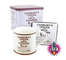 HERITAGE CADBURYS COCOA AND MILK POWDER MUG CUP AND COASTER SET NEW IN GIFT TIN