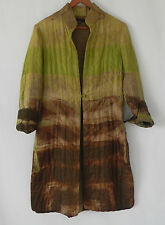 Adolfo Dominguez Costura Silk Duster Quilted Long Sleeve Multi-Color Size 40(M)