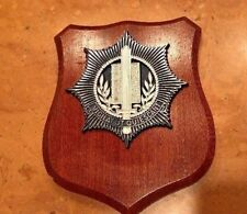 VINTAGE Dutch Holland Police Shield Crest Vigilat ut Quiescant Wall Hanging