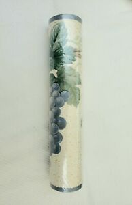 Vintage 1 Unopened Roll Wallpaper Border by Cornerstone Grapes Leaves 5y NOS