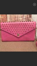Rebecca Minkoff Pink Leather Gold Studded Crossbody Chain Strap Bag Purse