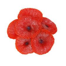 Corallo Artificiale Piante Morbido Decorativo Per Acquario Pesci - Rosso