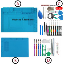 Phone Repair Screen Opening Tool Kit Screwdriver Silicone Pad for iPhone X 8 7 6