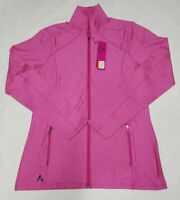 NEW Antigua Women's Pink Full Zip Long Sleeve Lightweight Jacket Size S Small
