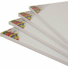 Large Blank Plain Artist Canvas Board Pack A1 Stretched Primmed 380gsm Cotton