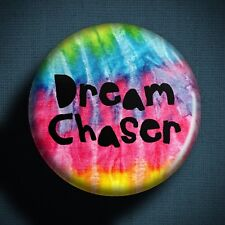 DREAM CHASER Pin Badge Button (1 inch 25mm) Hippie Art Festival Travel Ambition