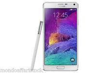 "SMARTPHONE SAMSUNG GALAXY NOTE 4 SM N910F 5.7"" 32 GB QUAD CORE 4G LTE BIANCO"