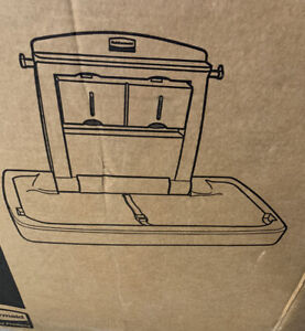 NIB Rubbermaid wall mounted baby changing table station! Model 7818-88 Open Box
