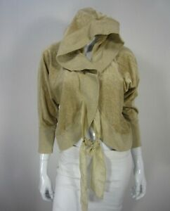 Juicy Couture Size Petite XS Extra Small Hoodie Cream Brown Velour