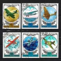 Aviones Rusia URSS (56) serie completo de 6 sellos matasellados