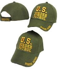 U.S. Border Patrol Green / Yellow Embroidered Cap Hat (TOPW)