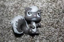 Littlest Pet Shop Gray Squirrel #132 Pink Purple Eyes LPS Toy Hasbro Animal
