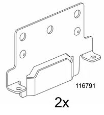 Ikea Bed frame mounting plate, Part # 116791 (2 pack) - NEW