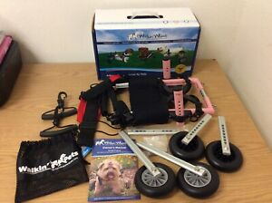 Walkin' Wheels Pink Small Dog Wheelchair for Handicapped Dogs w/ Belly Support