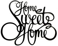 Home Sweet Home Black metal sign 15 X 18  Words Script wall, door art home decor