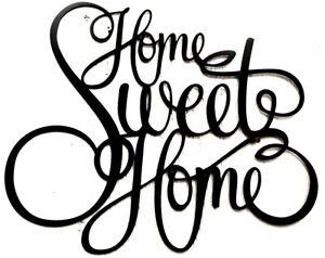 New Home Sweet Home  Black Art words script metal sign, gallery wall, door