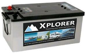 Xplorer 12v 220 AH AGM Deep Cycle Leisure Battery. Campervan battery. Off grid
