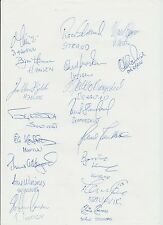 ROSENBORG TIPPELIGAEN CHAMPIONS 1995 ORIG HAND SIGNED A4 SHEET X 18 SIGNATURES