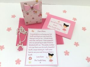 Personalised Tooth Fairy Letter, Necklace, Gift Box, First Tooth, Tooth Fairy