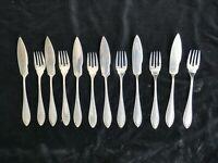 Wellner Fischbesteck Jugendstil 100 Silber 6 Personen Fish Cutlery Art Nouveau