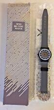 Vintage 1989 Designer AVON Big time Watch Gray Black FSC 5055-1 NOS Unused WOW