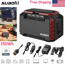 Portable 150Wh Energy Storage Power Generator Supply Solar Charging USB 110V AC