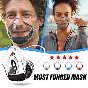 Face Shield PC Protection Mask Transparent Face Durable Clear Mask Anti-Fog 2021
