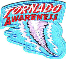 """TORNADO AWARENESS ""- IRON ON EMBROIDERED PATCH - WEATHER - FORECAST"