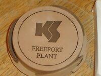 Vintage Kelly Springfield Tires Freeport Plant 6 Leather Coasters, Holder, Box B