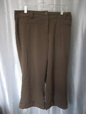 Bobby J. Light Brown Cropped/Capri Cuffed Pants Sz 14 Pre-Owned 63% Polyester