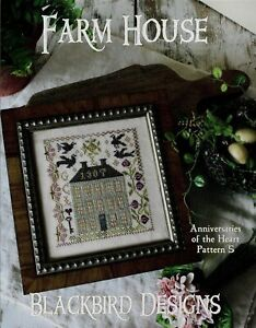 Farm House by Blackbird cross stitch pattern