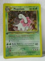 MEGANIUM 10/111 HOLO 1st EDITION NEO GENESIS POKEMON CARD - PLAYED