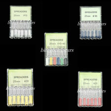 6 Pcsbox Dental Endo Stainless Steel Spreaders Files Handle 25 Mm 11 Options