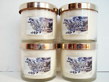 Bath Body Works White Barn LAVENDER VANILLA Candles, 4 oz., NEW x 4