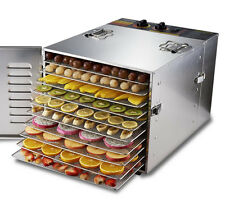 Fruit Vegetable Dehydrator Home Stainless Steel Fruit Drying Machine 220V