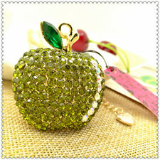Betsey Johnson Lovely Green apple pendant necklace Sweater chain charm BB463