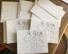 VTG (17) Picasso note cards Four Figures Pen Ink Hyde Collection Glens Falls